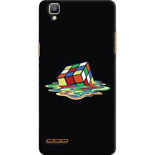 Oyehoye Oppo F1 Mobile Phone Back Cover With Modern Art Minimal Style - Durable Matte Finish Hard Plastic Slim Case