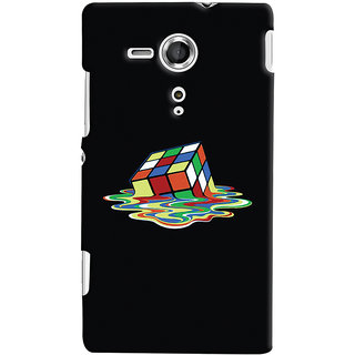 Oyehoye Sony Xperia SP Mobile Phone Back Cover With Modern Art Minimal Style - Durable Matte Finish Hard Plastic Slim Case