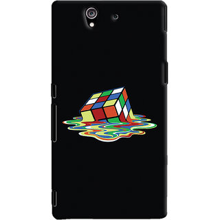 Oyehoye Sony Xperia Z Mobile Phone Back Cover With Modern Art Minimal Style - Durable Matte Finish Hard Plastic Slim Case