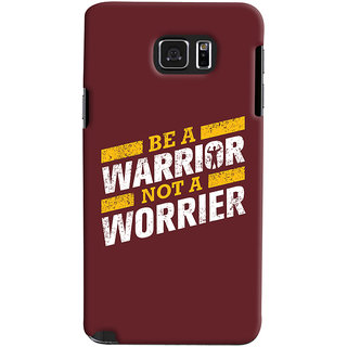 Oyehoye Samsung Galaxy Note 5 Dual Sim / Edge Plus Mobile Phone Back Cover With Motivational Quote - Durable Matte Finish Hard Plastic Slim Case