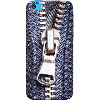 Oyehoye Apple iPhone 5C Mobile Phone Back Cover With Denim Look - Durable Matte Finish Hard Plastic Slim Case
