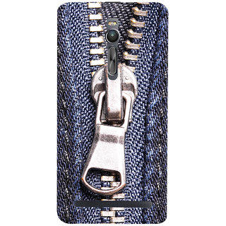 Oyehoye Asus Zenfone 2 ZE551ML Mobile Phone Back Cover With Denim Look - Durable Matte Finish Hard Plastic Slim Case
