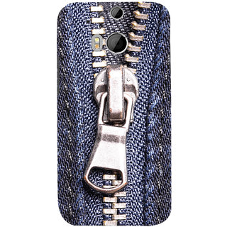 Oyehoye HTC One M8 Mobile Phone Back Cover With Denim Look - Durable Matte Finish Hard Plastic Slim Case