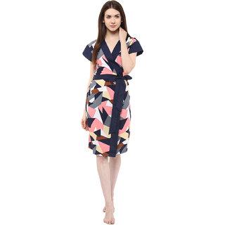 Athena abstrack printed night robe