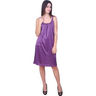 You Forever Women's Solid Purple Nighties