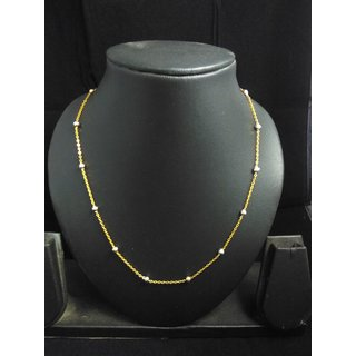 gold plated ball chain for pendant set 18 inch c1