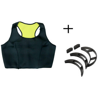 Gold Dust Sweating Body Shapers Slimming Sports Vest + Bumpits (M)