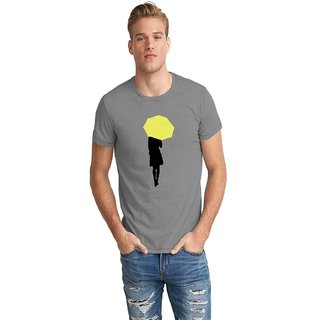 Dreambolic Yellow Umbrella Half Sleeve T-Shirt