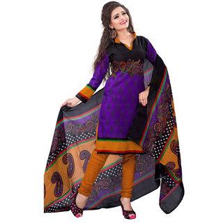 Gracious Printed Women's  Girl's Cotton Salwar Suit With Matching Bottom  Dupatta (KFKPGUM10092 Mtr)