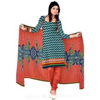 Amazing Printed Women's  Girl's Crepe Salwar Suit With Matching Bottom  Dupatta (KFSRCCOL1311.90 Mtr)