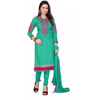Wonderful Embroidery Women's  Girl's Crepe Salwar Suit With Matching Bottom  Dupatta (KFSRCTP10061.90 Mtr)