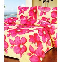 Furnix Premium Double Bed Sheet With Two Pillow Covers D.No.14