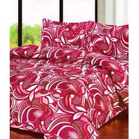 Furnix Premium Double Bed Sheet With Two Pillow Covers D.No.16