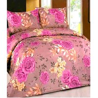 Furnix Premium Double Bed Sheet With Two Pillow Covers D.No.56