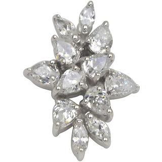 White Cubic Zircon in Silver925 - P525014D