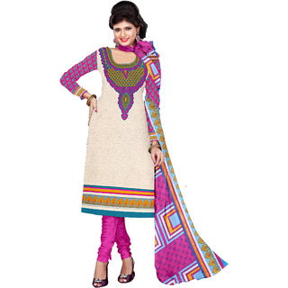 Gracious Printed Women's  Girl's Crepe Salwar Suit With Matching Bottom  Dupatta (KFSJP214RED2 Mtr)