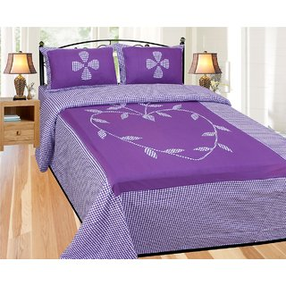 ShopSince Floral Double Bedsheet with 2 Pillow Covers - LBS16