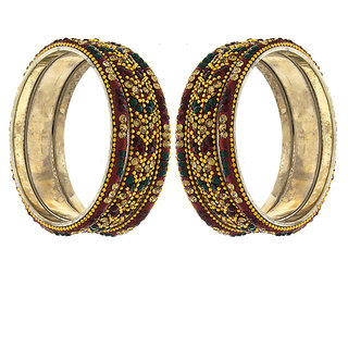Anuradha Art Multi Colour Styled With Mina Work Classy Bangles Set For Women