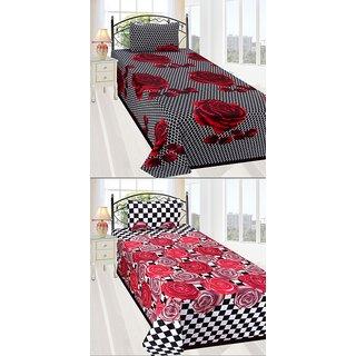 ShopSince Floral Single Bedsheet Set of 2 - CBS758