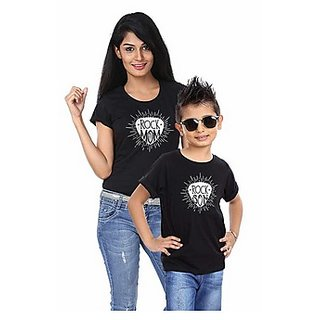 Rock Mom and Son Tees Combo