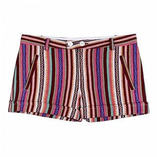 Miss Nightingale Stripe Multicoloured Shorts