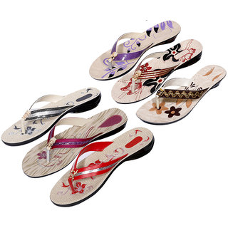Krocs Super Comfortable  Flip flop For Women (Pack of 6 Pair)