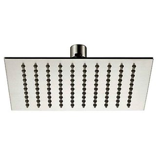 Prestige Wall Mounted 8x8 Stainless Steel Ultra Slim Rain Shower Head without Arm