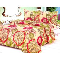 Furnix Premium Double Bed Sheet With Two Pillow Covers D.No.20