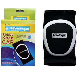 WINTEX PADDED KNEE CAPS/PADS FOR SECURITY PURPOSE DURING DANCING/SKATING/CYCLING/VOLLEY BALL/KABADDI OTHER ACTIVITIES