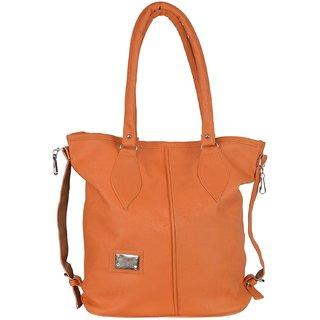 Ecadence Women's Shoulder Bag (Orange, ECA055A)