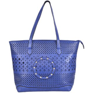Ecadence Women's Shoulder Bag (Blue, ECA048C)