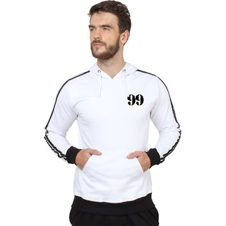 SayItLoud Men's Printed Sports Trim Hoodie