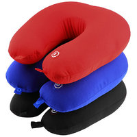 CheckSums (11726) Microbead Full Vibrating Neck Pillow (Travel Pillow) Massager For Neck Pain Releief- Assorted Color