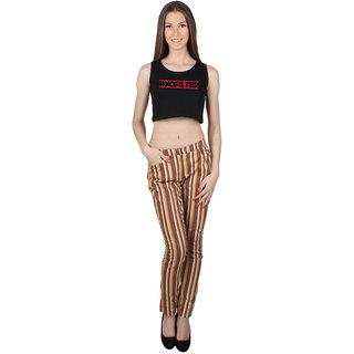 SayItLoud Sleeveless Black Colour Printed Crop top