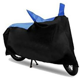 Ak Kart Black and Blue Two Wheeler Cover For Honda Livo