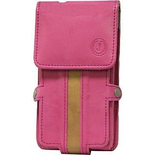 Jojo Holster for Nokia Asha 310         (Pink, Brown)
