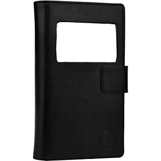 Jojo Flip Cover for LG Optimus P970         (Black)