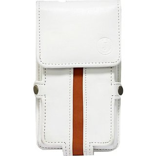 Jojo Holster for Samsung Galaxy Star Advance         (White, Orange)