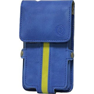 Jojo Holster for Samsung Galaxy Young S6310L         (Dark Blue, Parrort Green)