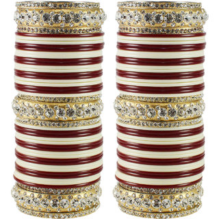 Multi Stone Acrylic-Brass Bangle
