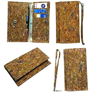 Jojo Pouch for Micromax Canvas A1 Android One         (Wood Colour)