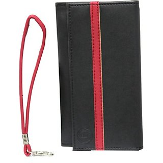 Jojo Pouch for Samsung Galaxy Core Prime VE         (Black, Red)
