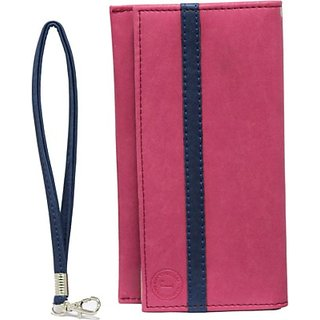 Jojo Pouch for Sony Xperia T2 Ultra Dual         (Pink Dark Blue)