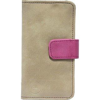 Jojo Flip Cover for LG G3 (CDMA)         (Tan, Pink)