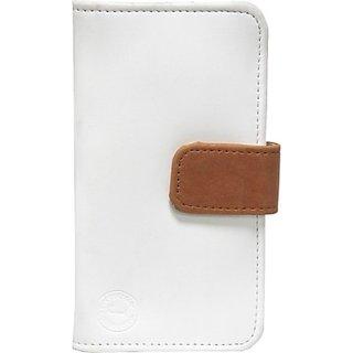 Jojo Flip Cover for Sony Xperia Z1s C6916         (White, Orange)