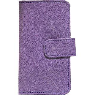 Jojo Flip Cover for iBall Andi 5 stallion         (Purple)