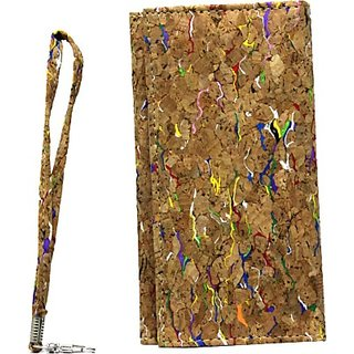 Jojo Pouch for Micromax A114 Canvas 2.2         (Wood Colour)