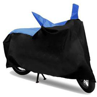 Ak Kart Black and Blue Two Wheeler Cover For Hero Passion Pro