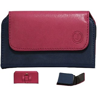 Jojo Pouch for Sony Xperia Z5 Dual         (Pink, Dark Blue)
