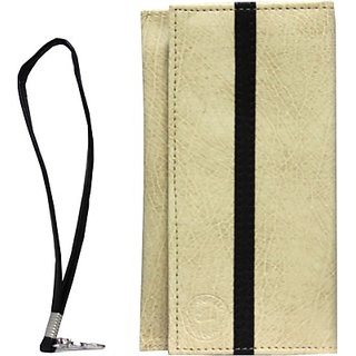 Jojo Pouch for Zte Grand Memo Ii Lte         (Cream Dark Brown)